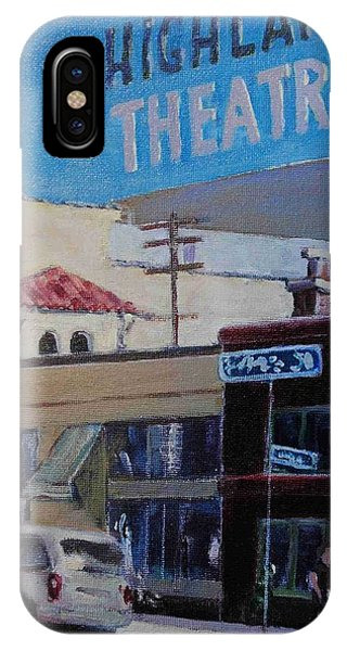 Highland Park Theatre IPhone Case