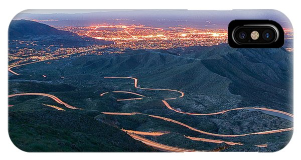 Highway 74 Palm Desert Ca Vista Point Light Painting IPhone Case