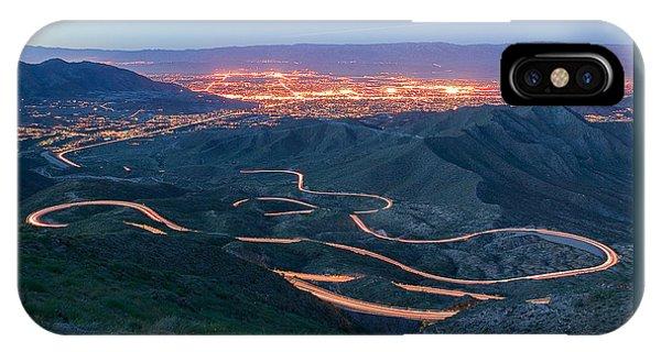 Highway 74 Palm Desert Ca Vista Point Light Painting IPhone Case