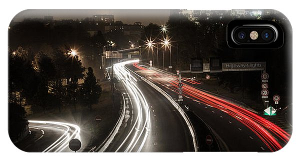 IPhone Case featuring the photograph Highway's Lights by Stwayne Keubrick