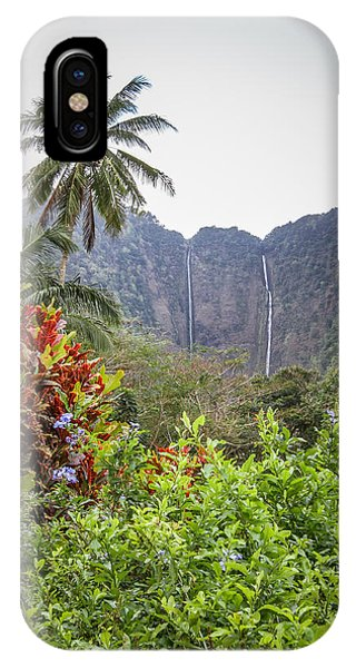 Hiilawe And Hakalaoa Falls IPhone Case