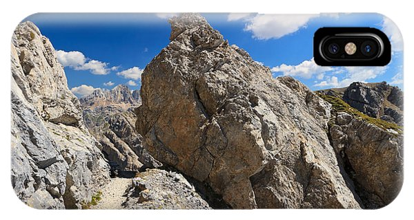 hike in Dolomites IPhone Case