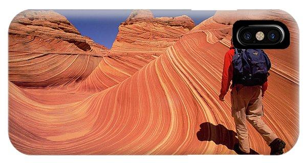 Mp iPhone Case - Hiker On Petrified Dunes by Yva Momatiuk John Eastcott