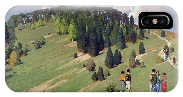 Hikers At Goodwood Downs IPhone Case