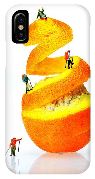 Hikers Climbing Orange Mountain IPhone Case