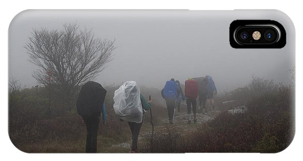 Hikers Going Into The Fog At Dolly Sods Phone Case by Dan Friend