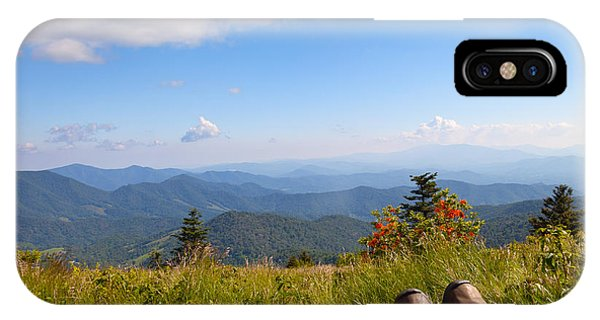 Hikers With A View On Round Bald Near Roan Mountain IPhone Case