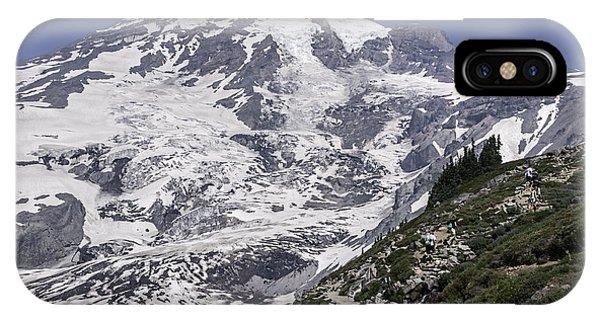 Hiking Mt Rainier IPhone Case