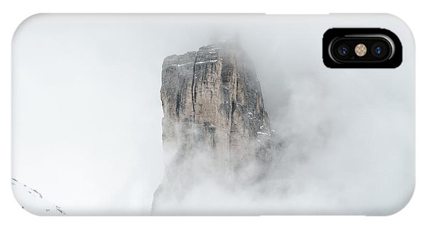 Hiking The Tre Cime In Winter IPhone Case
