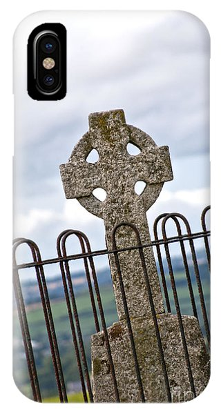 Hill Of Tara Celtic Cross IPhone Case