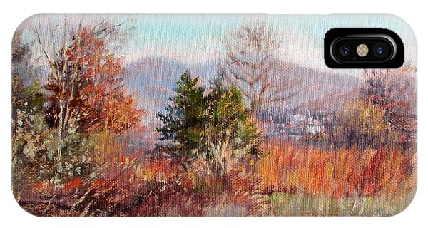 Hill Top View- In Autumn IPhone Case