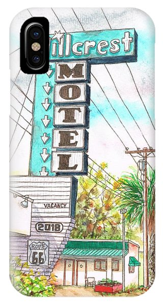 Hillcrest Motel In Route 66 - Andy Devine Ave In Kingman - Arizona IPhone Case