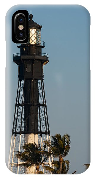 Hillsboro Inlet Lighthouse In The Evening IPhone Case