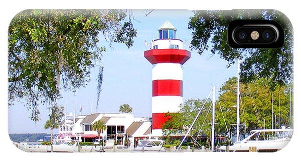 Hilton Head Lighthouse And Marina IPhone Case