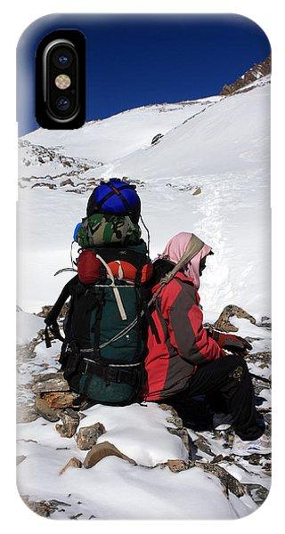 Himalayan Porter, Nepal IPhone Case