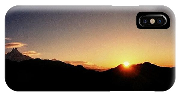 Beautiful Sunrise iPhone Case - #himalayas #annapurna #sunrise by Raimond Klavins