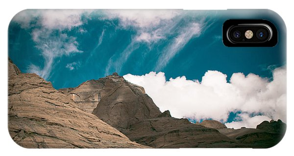 Himalyas Mountains In Tibet With Clouds IPhone Case