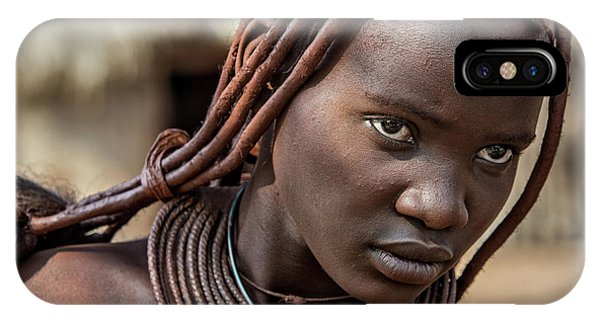 Ethnic iPhone Case - Himba Girl by Piet Flour
