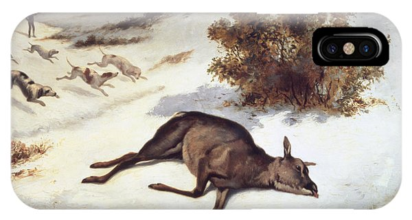 Hind Forced Down In The Snow IPhone Case