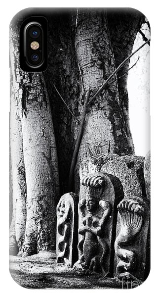 Indian Village iPhone Case - Hindu Shrine by Tim Gainey