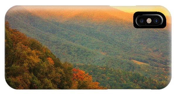 IPhone Case featuring the photograph Hint Of Orange On The Blue Ridge Parkway by Ola Allen