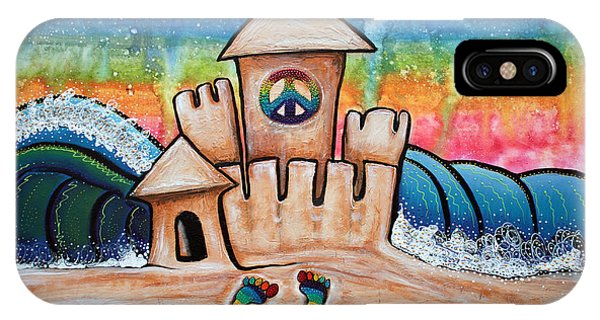 Hippie Sand Castle IPhone Case