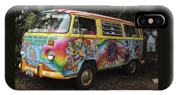 Vintage 1960's Vw Hippie Bus IPhone Case