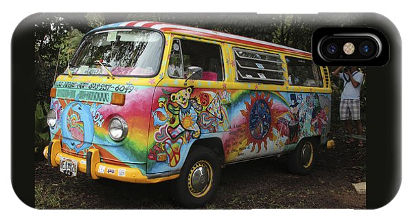 Vintage 1960's Vw Hippie Bus, Hawaii IPhone Case