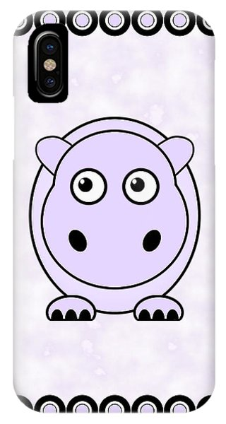 Hippo - Animals - Art For Kids IPhone Case