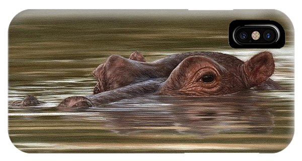Hippo Painting IPhone Case