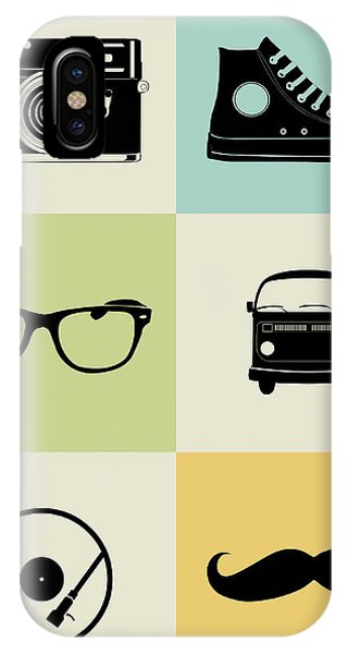 Witty iPhone Case - Hipster Mix Poster by Naxart Studio