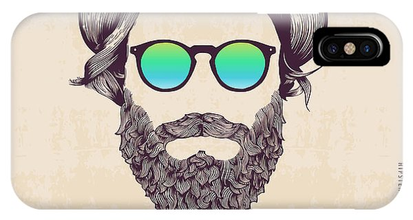 Hipster With Hat And Jazz-bow Phone Case by Blau Ananas