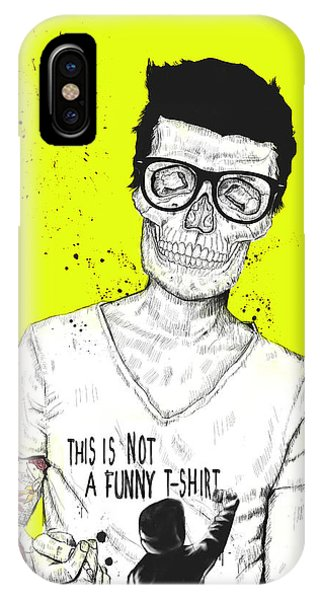 Skull iPhone Case - Hipsters Not Dead by Balazs Solti