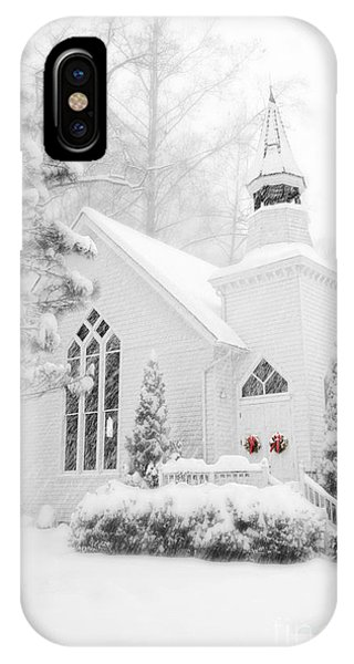 White Christmas In Oella Maryland Usa IPhone Case