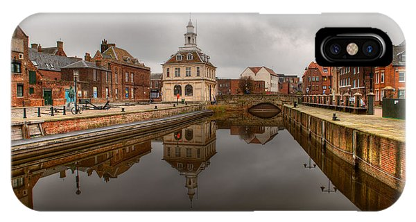 Historic Customs House And Dramatic Reflection IPhone Case