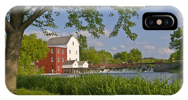 Historic Flour Mill By A River IPhone Case