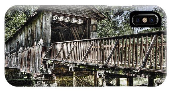 Historic Kymulga Covered Bridge IPhone Case