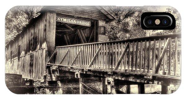 Historic Kymulga Covered Bridge Toned IPhone Case