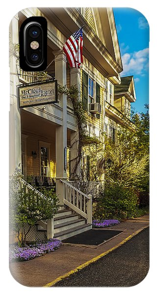 iPhone Case - Historic Mccloud Bed And Breakfast by Nancy Marie Ricketts