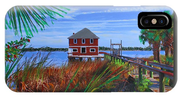 IPhone Case featuring the mixed media Historic Ormond Boathouse by Deborah Boyd