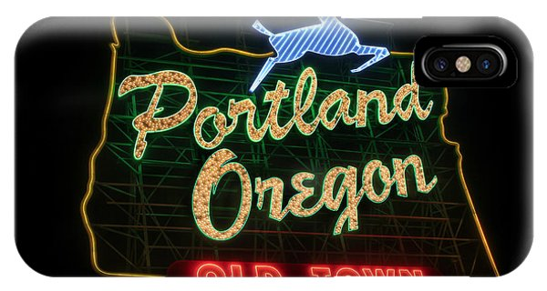 Historic Portland Oregon Old Town Sign IPhone Case