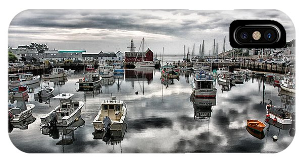 New England Barn iPhone Case - Historic Rockport Harbor by Stephen Stookey