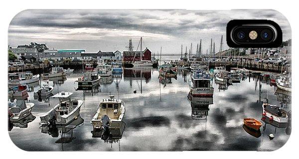 Motif iPhone Case - Historic Rockport Harbor by Stephen Stookey