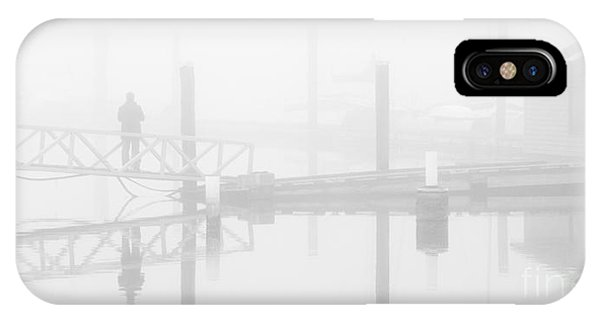Historic Stewart Farm In The Fog IPhone Case