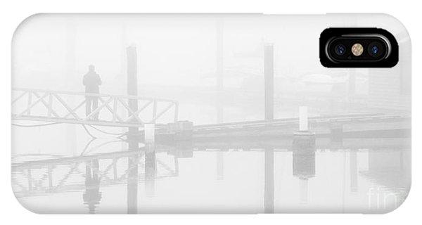 Historic Stewart Farm In The Fog IPhone Case