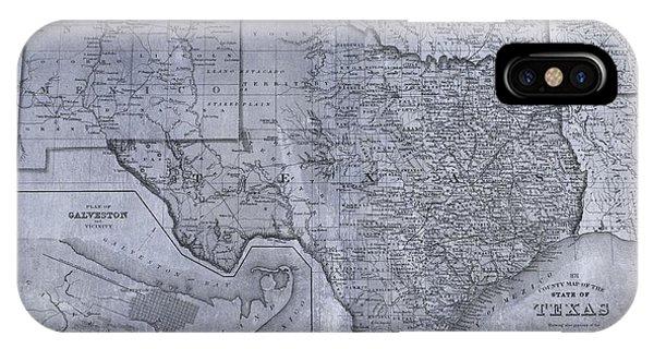 Historic Texas Map IPhone Case