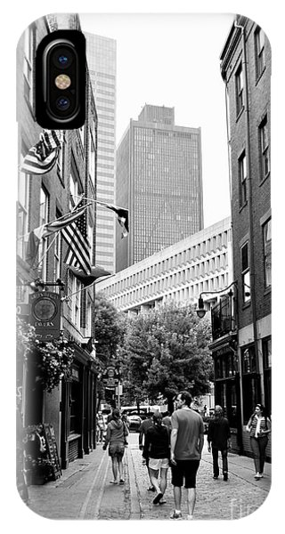 Historic Union Street Boston Ma IPhone Case