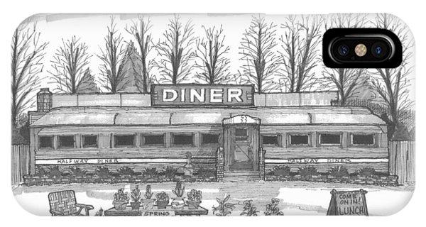 Historic Village Diner IPhone Case