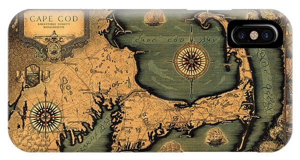 Historical Map Of Cape Cod IPhone Case