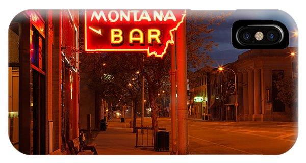 Historical Montana Bar IPhone Case